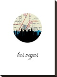 Las Vegas Map Skyline