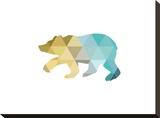 Mustard Teal Bear