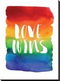 Love Wins Watercolor Rainbow