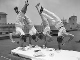 Acrobats Eat While Doing Handstands