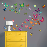 Flat and 3D Butterfly Collection