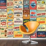 Vintage Metal Ads - 30 Piece Wallpaper Collage