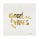 Good Vibes - Gold Ink Giclée par Cat Coquillette