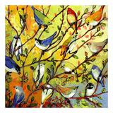 16 Birds Reproduction d'art par Jennifer Lommers