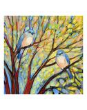 Two Bluebirds Reproduction d'art par Jennifer Lommers