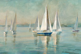 Sailboats at Sunrise Reproduction d'art par Danhui Nai