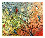 27 Birds Reproduction d'art par Jennifer Lommers