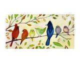 A Flock of Many Colors Reproduction d'art par Jennifer Lommers