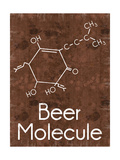 Beer Molecule 2 Rect Brown
