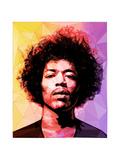 Jimi Hendrix Reproduction d'art par Enrico Varrasso