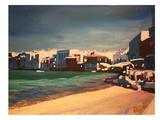 Mykonos Greece Little Venice Seascape