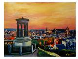Edinburgh Scotland Skyline With Arthurs Seat