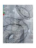 Silver Swirl 3 Reproduction d'art par Enrico Varrasso
