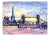 London England The Shard And Tower Bridge 2