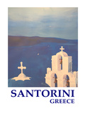 Santorini Greek Island Classical Poster
