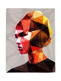 Pouting Girl With Hair Clip Reproduction d'art par Enrico Varrasso