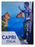Capri With Ancient Roman Empire Statue