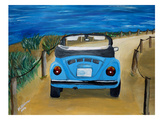 Blue Bug At Beach