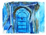 Chefchaouen Morocco Blue Door