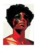 Black Woman 6 Reproduction d'art par Enrico Varrasso