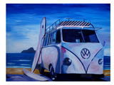 The Vw Volkswagen Bully Series - The White Bus Or