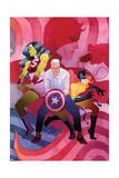 She-Hulk No 9 Cover  Featuring: She-Hulk  Steve Rogers  Hellcat  Daredevil