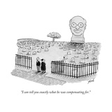 """I can tell you exactly what he was compensating for"" - New Yorker Cartoon"