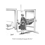 """I don't normally pick up guys like this"" - New Yorker Cartoon"