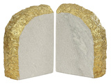 Glace Bookend Pair - Gold