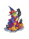 Witchcat with Broom