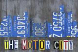 Detroit City Skyline License Plate Art