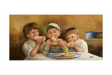 Kids Eating Pizza