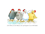Four Hens New