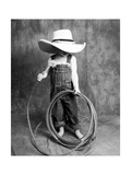 Boy with a Cowboy Hat and Lasso