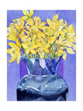 Daffodils in Cobalt
