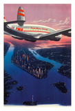Manhattan  New York USA - TWA (Trans World Airlines)