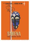 Congo - South Africa - Sabena  Lignes Aeriennes Belges (Belgian Airlines)