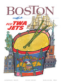 Boston - Fly TWA Jets - Trans World Airlines - Colonial Massachusetts