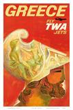 Greece - Fly TWA Jets (Trans World Airlines) - Greek Warrior