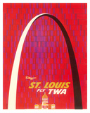St Louis  USA - Fly TWA (Trans World Airlines) - The Gateway Arch Monument
