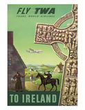 To Ireland - Fly TWA (Trans World Airlines) - Celtic Cross