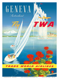 Geneva  Switzerland - Fly TWA (Trans World Airlines)