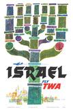 Israel - Fly TWA (Trans World Airlines) - Menorah