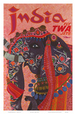 India - Fly TWA Jets (Trans World Airlines) - Adorned Elephant