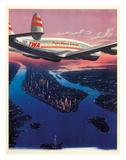 Manhattan, New York USA - TWA (Trans World Airlines) Giclée par Frank Soltesz