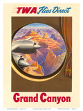 Grand Canyon  Arizona - TWA Flies Direct - Trans World Airlines