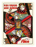 Las Vegas  Nevada - Fly TWA (Trans World Airlines) - Queen Playing Card