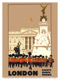 London - by London & North Eastern Railway (LNER) - Guards  Buckingham Palace