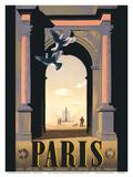 Paris  France - Arc de Triomphe - Obelisk Place de La Concorde