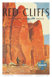 Red Cliffs - Continental Divide  New Mexico - Santa Fe Railroad Company